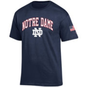 Champion Men's Notre Dame Fighting Irish Navy American Flag T-Shirt