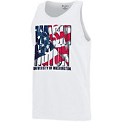 Champion Men's Washington Huskies American Flag White Tank