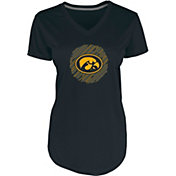 Champion Women's Iowa Hawkeyes Black Chrome V-Neck T-Shirt