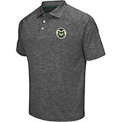 Chiliwear Men's Colorado State Rams Grey Grid Performance Polo