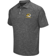 Chiliwear Men's Missouri Tigers Grey Grid Performance Polo