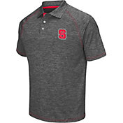 Chiliwear Men's NC State Wolfpack Grey Grid Performance Polo
