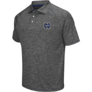 Chiliwear Men's Notre Dame Fighting Irish Grey Grid Performance Polo