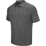 Chiliwear Men's Texas A&M Aggies Grey Grid Performance Polo