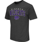 Colosseum Athletics Men's Kansas State Wildcats Grey Dual-Blend T-Shirt