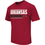 Colosseum Athletics Men's Arkansas Razorbacks Crimson Dual-Blend T-Shirt
