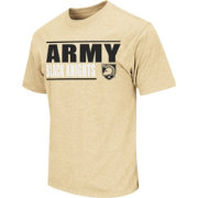 Colosseum Athletics Men's Army West Point Black Knights Gold Dual-Blend T-Shirt
