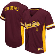 Colosseum Athletics Men's Arizona State Sun Devils Maroon Batter Up Baseball Jersey