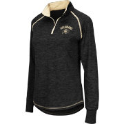 Colosseum Athletics Women's Colorado Buffaloes Black Bikram Quarter-Zip