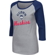 Colosseum Athletics Women's UConn Huskies Grey Raglan T-Shirt