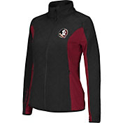 Colosseum Athletics Women's Florida State Seminoles Black/Garnet Alpine Quilted Full-Zip Jacket