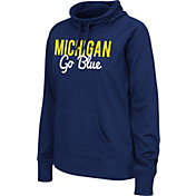 Colosseum Athletics Women's Michigan Wolverines Blue Performance Hoodie