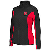 Colosseum Athletics Women's Rutgers Scarlet Knights Black/Scarlet Alpine Quilted Jacket