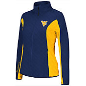 Colosseum Athletics Women's West Virginia Mountaineers Blue/Gold Alpine Quilted Jacket