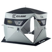 Clam Jason Mitchell 5000 Thermal 6 Person Ice Fishing Shelter