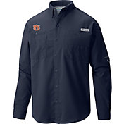 Columbia Men's Auburn Tigers Blue Tamiami Long Sleeve Shirt