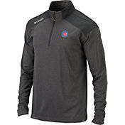 Columbia Men's Chicago Cubs Top Of The Green Grey Quarter-Zip Performance Pullover