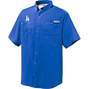 Columbia Men's Los Angeles Dodgers Royal Tamiami Performance Short Sleeve Shirt