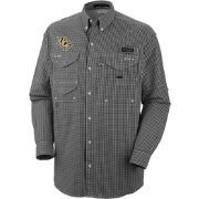Columbia Men's UCF Knights Black Plaid Super Bonehead Long Sleeve Shirt