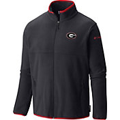 Columbia Men's Georgia Bulldogs Black Fuller Ridge Fleece Jacket