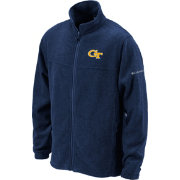 Columbia Men's Georgia Tech Yellow Jackets Navy Flanker Full-Zip Fleece Jacket