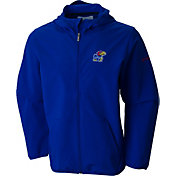 Columbia Men's Kansas Jayhawks Blue Taylor's Ridge Softshell Jacket