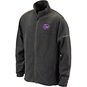Columbia Men's Kansas State Wildcats Silver Flanker II Full-Zip Fleece