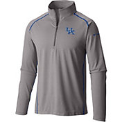 Columbia Men's Kentucky Wildcats Grey Tuk Mountain Half-Zip Shirt