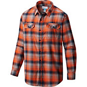 Columbia Men's Illinois Fighting Illini Blue Plaid Flare Gun Flannel Long Sleeve Shirt