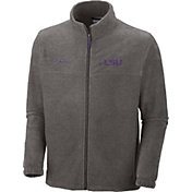 Columbia Men's LSU Tigers Grey Flanker II Full-Zip Fleece Jacket