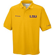 Columbia Men's LSU Tigers Gold Perfect Cast Performance Polo