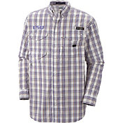 Columbia Men's LSU Tigers Plaid Super Bonehead Long Sleeve Shirt