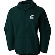 Columbia Men's Michigan State Spartans Green Taylor's Ridge Softshell Jacket