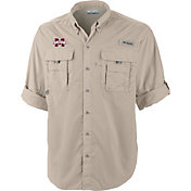 Columbia Men's Mississippi State Bulldogs Tan Bahama Long Sleeve Shirt