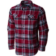 Columbia Men's South Carolina Gamecocks Garnet Plaid Flare Gun Flannel Long Sleeve Shirt