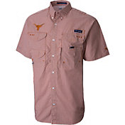Columbia Men's Texas Longhorns Burnt Orange Super Bonehead Plaid Shirt