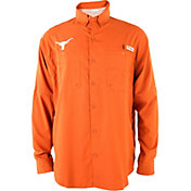 Columbia Men's Texas Longhorns Orange Tamiami Performance Long Sleeve Shirt