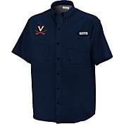 Columbia Virginia Cavaliers Blue Button-Down Performance Short Sleeve Shirt