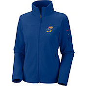 Columbia Women's Kansas Jayhawks Give and Go Blue Full-Zip Fleece