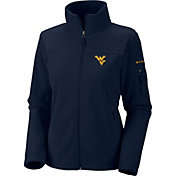 Columbia Women's West Virginia Mountaineers Give and Go Blue Full-Zip Fleece