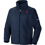 Columbia Youth Cleveland Indians Flanker Full-Zip Fleece Jacket