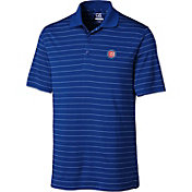 Cutter & Buck Men's Chicago Cubs Royal Franklin Stripe DryTec Performance Polo