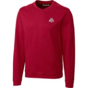 Cutter & Buck Men's Ohio State Buckeyes Scarlet V-Neck Sweater