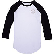Converse Women's Chuck Patch 3/4 Sleeve Raglan T-Shirt