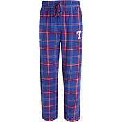 Concepts Sport Men's Texas Rangers Royal/Red Plaid Flannel Pajama Pants