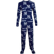 Concepts Sport Men's New York Yankees All-Over Logo Navy Onesie