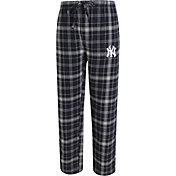 Concepts Sport Men's New York Yankees Navy/Grey Plaid Flannel Pajama Pants