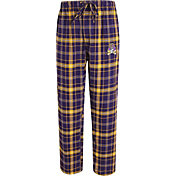 Concepts Sport Men's East Carolina Pirates Purple/Gold Ultimate Plaid Sleep Pants