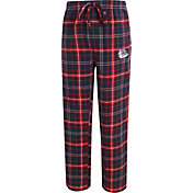Concepts Sport Men's Gonzaga Bulldogs Blue/Red Ultimate Plaid Sleep Pants