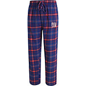 Concepts Sport Men's New York Giants Ultimate Flannel Blue Pants